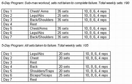 Images Of Bodybuilding Program Exercise